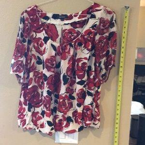 Karen Kane flower blouse size 1x